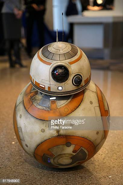 """General view of the atmosphere during the """"Star Wars"""" BB-8 ANA Jet event at LAX Airport on March 28, 2016 in Los Angeles, California."""