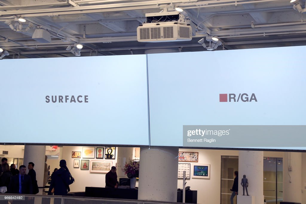 A general view of the atmosphere during the Surface Design Dialogues No. 46 with R/GA on May 16, 2018 in New York City.