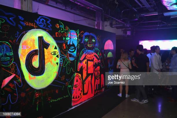 A general view of the atmosphere during the TikTok US launch celebration at NeueHouse Hollywood on August 1 2018 in Los Angeles California