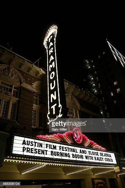 A general view of the atmosphere during the world premiere of the new film 'Burning Bohdi' at Paramount Theatre on November 1 2015 in Austin Texas