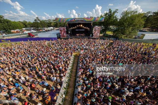 General view of the atmosphere during Walk the Moon's performance at the Bonnaroo Music & Arts Festival on June 16, 2019 in Manchester, Tennessee.