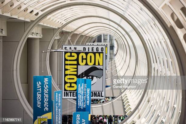 General view of the atmosphere inside 2019 Comic-Con International at 2019 Comic-Con International on July 18, 2019 in San Diego, California.