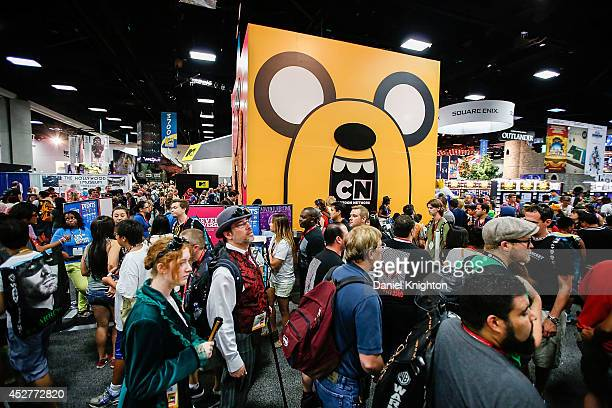 General view of the atmosphere inside ComicCon International at San Diego Convention Center on July 26 2014 in San Diego California