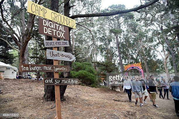 General view of the atmosphere is seen at Digital Detox Analog Zone during day 2 of the 2014 Outside Lands Music and Arts Festival at Golden Gate...
