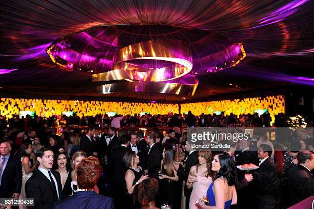 General view of the atmosphere is seen during The 2017 InStyle and Warner Bros 73rd Annual Golden Globe Awards PostParty at The Beverly Hilton Hotel...