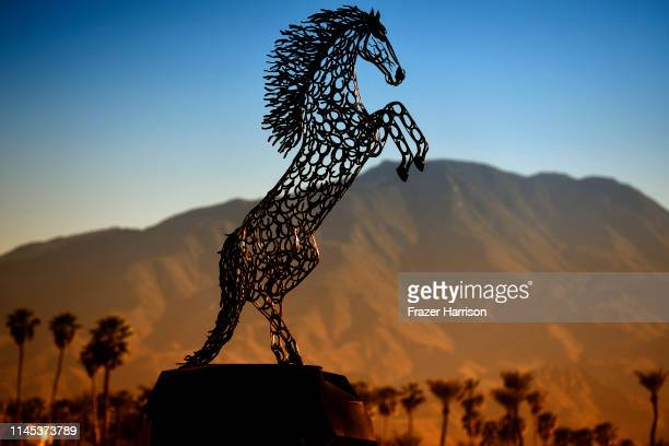 A general view of the atmosphere is seen during the 2019 Stagecoach Festival at Empire Polo Field on April 26 2019 in Indio California