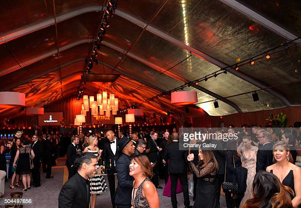 A general view of the atmosphere is seen during The Weinstein Company and Netflix Golden Globes Party presented with FIJI Water at The Beverly Hilton...