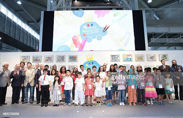 General view of the atmosphere of the 9th Annual Toyota Dream Car Art Contest Award Ceremony at Mega Web on August 26 2015 in Tokyo Japan