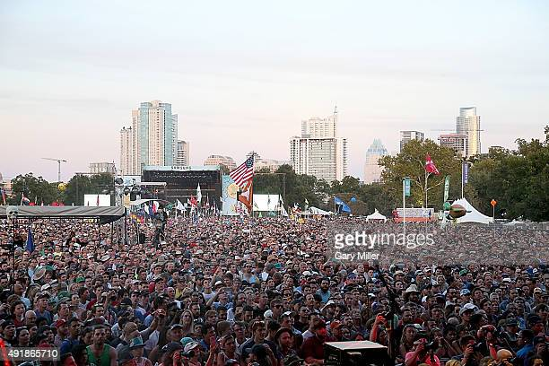A general view of the atmosphere on the first day of weekend 1 during the Austin City Limits Music Festival at Zilker Park on October 2 2015 in...