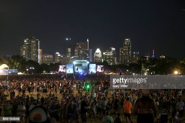 A general view of the atmosphere on the third day of week one of the Austin City Limits Music Festival at Zilker Park on October 8 2017 in Austin...