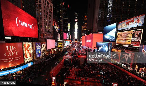 General view of the atmosphere on World AIDS Day at 'A Thank You' presented by RED on December 1 2014 in New York City Photo by D Dipasupil/Getty...