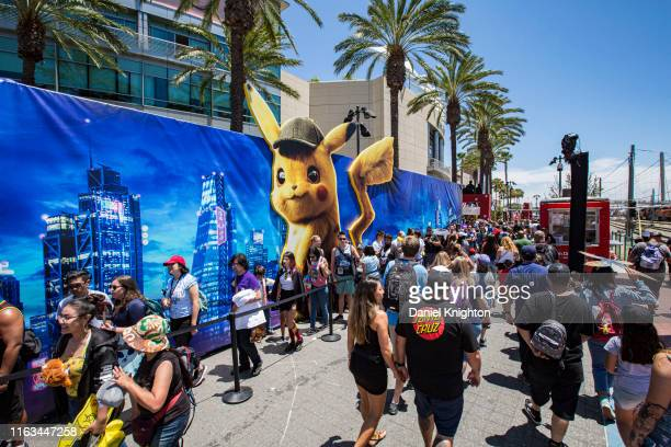 General view of the atmosphere outside 2019 Comic-Con International on July 21, 2019 in San Diego, California.