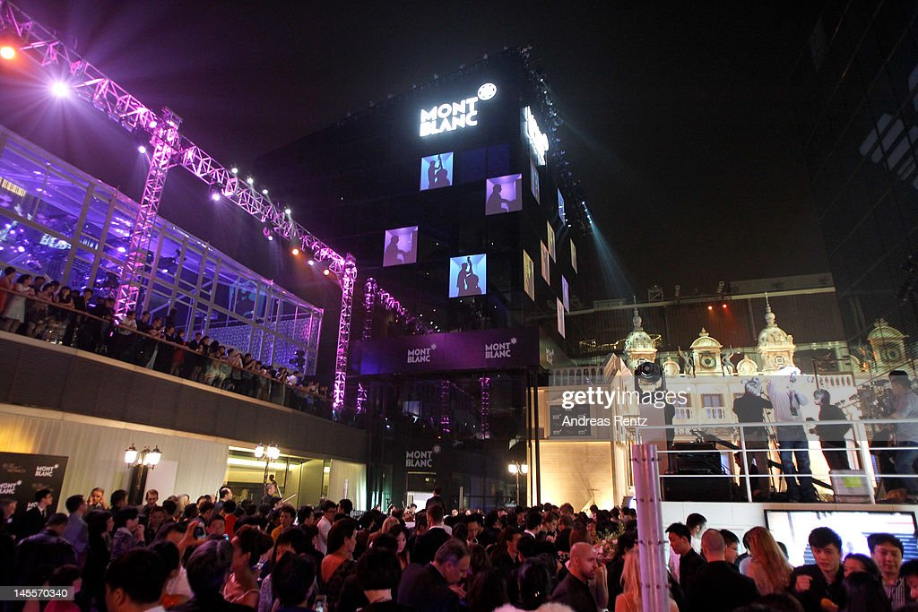 General view of the atmosphere outside the the Montblanc Sanlitun Concept Store during the Montblanc international gala to celebrate the official opening of its new and biggest concept store in the world on June 1, 2012 in Beijing, China.