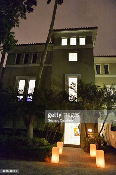 A general view of the atmosphere outside the viewing of Fredric S Brandt's Art Collection cocktail party on December 4 2012 in Coconut Grove Florida