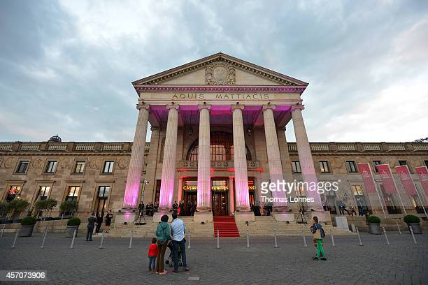 A general view of the atmosphere outside the VITA Charity Gala at the Kurhaus on October 11 2014 in Wiesbaden Germany