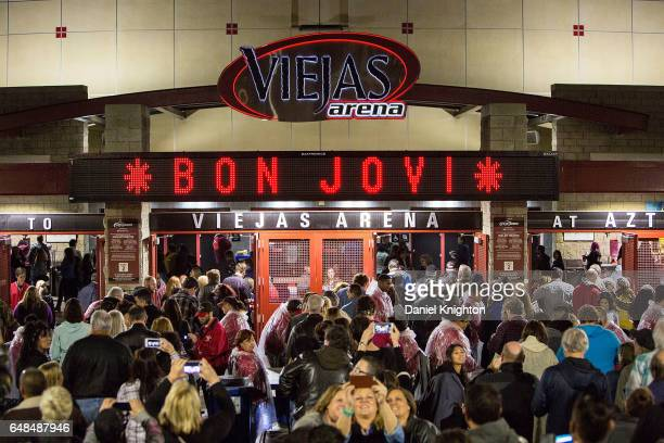 General view of the atmosphere prior to Bon Jovi's 'This House Is Not For Sale' Tour stop at Viejas Arena on March 5 2017 in San Diego California