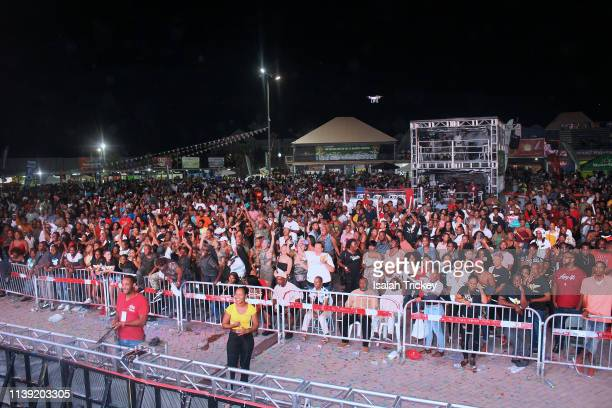 A general view of the atmosphere Soca Ramble during St Maarten Carnival at The St Maarten Festival Village on April 24 2019 in Philipsburg St Maarten