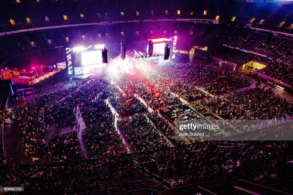 A general view of the atmsophere at the 2017 Essence Festival at the Mercedes-Benz Superdome on July 2, 2017 in New Orleans, Louisiana.