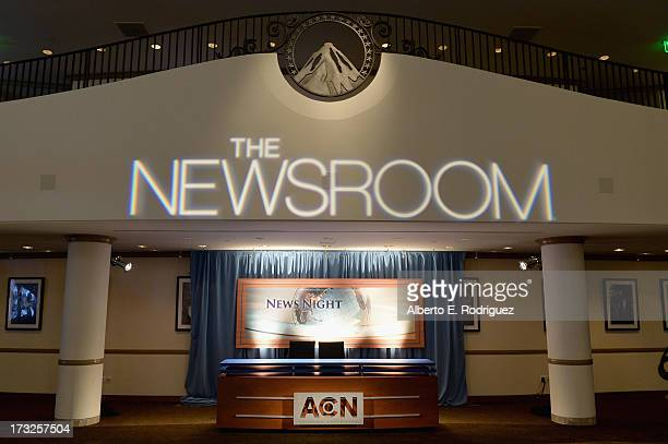 A general view of the atomosphere at the after party for the premiere of HBO's 'The Newsroom' Season 2 at Paramount Theater on the Paramount Studios...