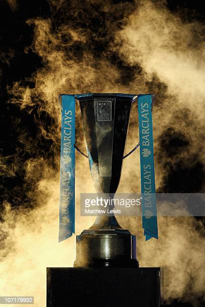 A general view of the ATP World Tour Finals trophy taken prior to the men's final between Rafael Nadal of Spain and Roger Federer of Switzerland...