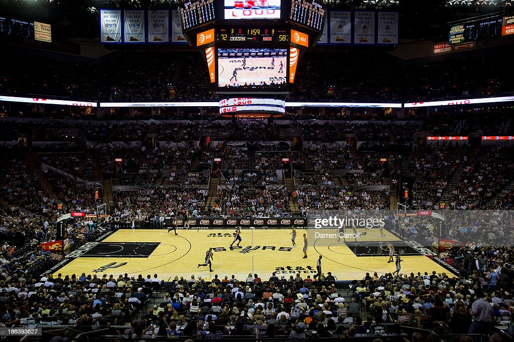 General view of the AT&T Center during a game between the Memphis Grizzlies and San Antonio Spurs on October 30, 2013 in San Antonio, Texas.
