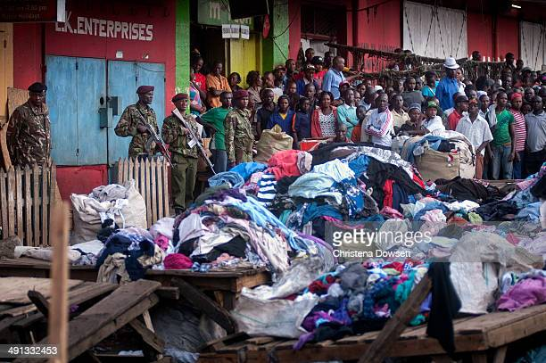 A general view of the attack aftermath at Gikomba market on May 16 2014 in Nairobi Kenya Two improvised explosive devices were activated killing...