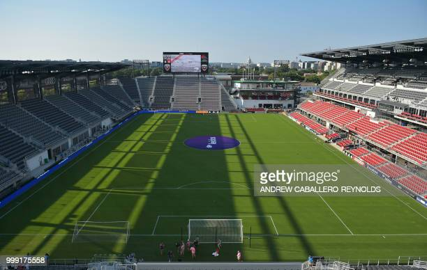 General view of the Audi Stadium before the DC United vs the Vancouver Whitecaps FC match in Washington DC on July 14 2018