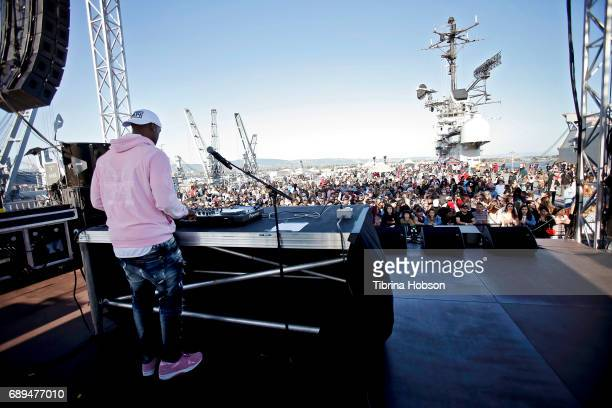 A general view of the audience and stage at the 1st Annual Ship Show Music Festival on May 27 2017 in Alameda California