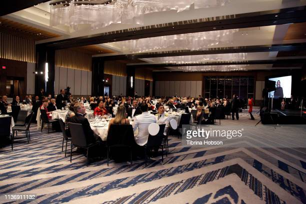 A general view of the audience at the 16th annual 'Gathering for Cure' black tie awards gala of Brain Mapping Foundation on March 16 2019 in Los...
