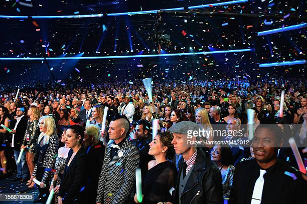 General view of the audience at the 40th American Music Awards held at Nokia Theatre LA Live on November 18 2012 in Los Angeles California