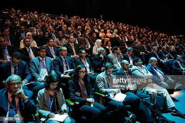 General view of the audience at the 9th World Islamic Economic Forum at ExCel on October 29 2013 in London England