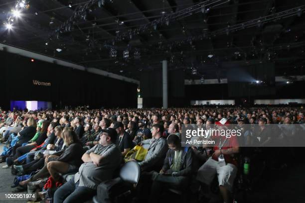 General view of the audience at the 'Fear the Walking Dead' panel with AMC during Comic-Con International 2018 at San Diego Convention Center on July...