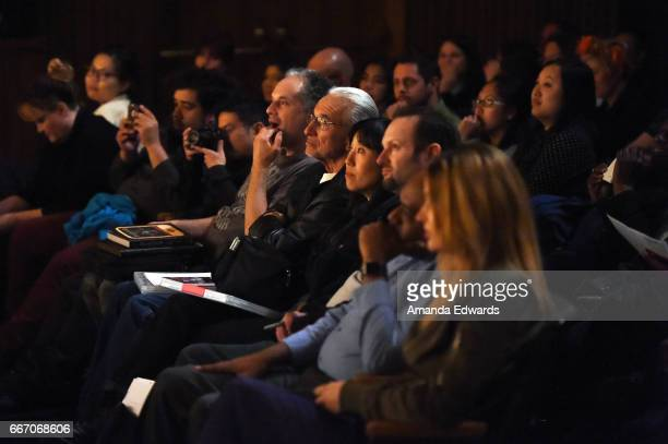 A general view of the audience at the Film Independent at LACMA special screening and QA of 'American Gods' at the Bing Theatre at LACMA on April 10...