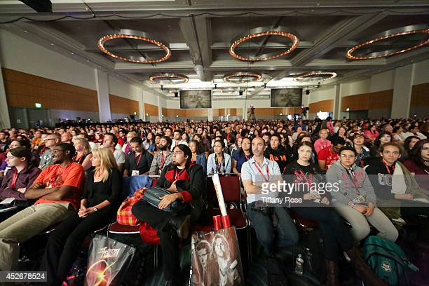 A general view of the audience at the Legend of Korra panel at the 2014 San Diego ComicCon International Day 3 on July 25 2014 in San Diego California