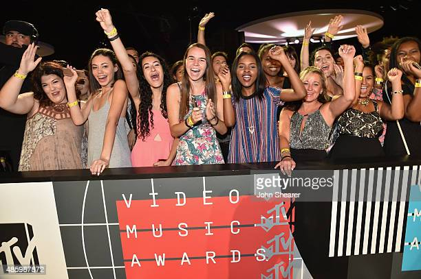 A general view of the audience at the red carpet during the 2015 MTV Video Music Awards at Microsoft Theater on August 30 2015 in Los Angeles...