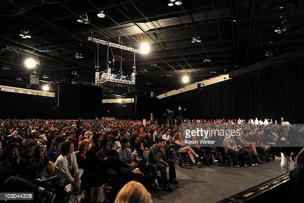 "General view of the audience at the ""Scott Pilgrim vs. The World"" panel during Comic-Con 2010 at San Diego Convention Center on July 22, 2010 in San..."