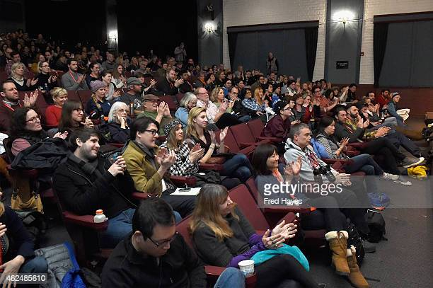 A general view of the audience at the Tangerine screening Q A during the 2015 Sundance Film Festival on January 29 2015 in Park City Utah