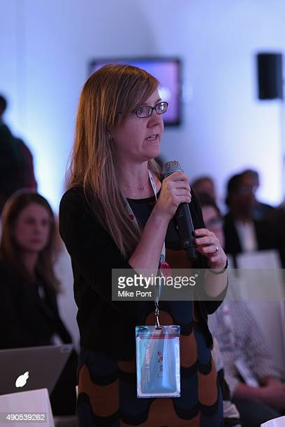 A general view of the audience at the The Location Summit panel presented by The Weather Company during Advertising Week 2015 AWXII at the ADARA...