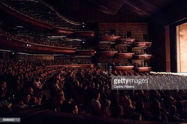 A general view of the audience during the Opening Night of Dubai Opera on August 31 2016 in Dubai United Arab Emirates