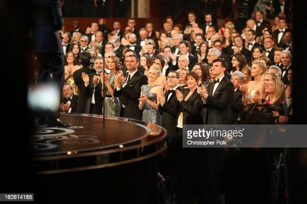 General view of the audience during the Oscars held at the Dolby Theatre on February 24 2013 in Hollywood California