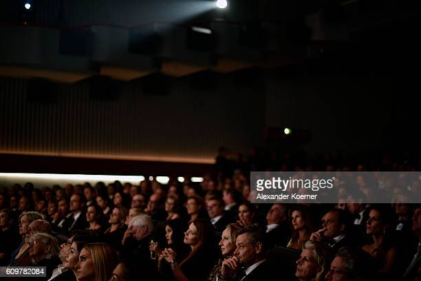 General view of the audience in the main hall of Corso cinema during the 'Lion' premiere and opening ceremony of the 12th Zurich Film Festival on...