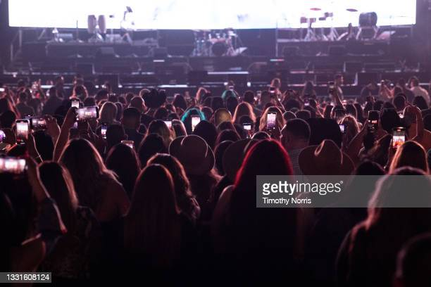General view of the audience prior to the Grupo Firme performance at Staples Center at Staples Center on July 30, 2021 in Los Angeles, California.