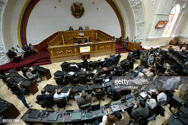 General view of the August 15 2017 session of the Venezuelan National Assembly in Caracas US Vice President Mike Pence heard more complaints from...