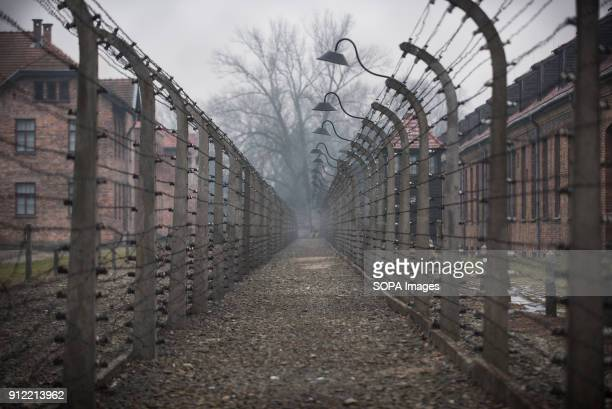 A general view of the Auschwitz fences during the 73rd anniversary of the liberation of the AuschwitzBirkenau in Oswiecim January 2018 will be the...
