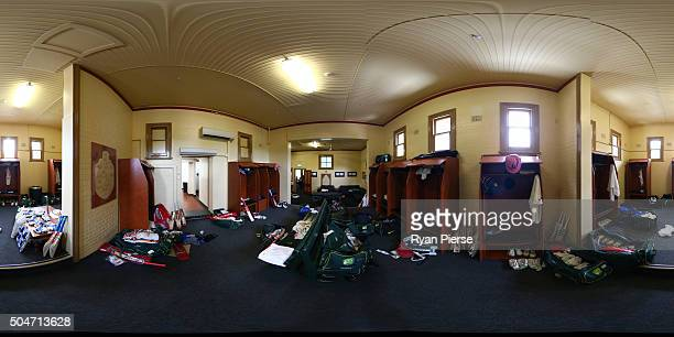 General view of the Australian changeroom ahead of the third cricket test match between Australia and the West Indies at the Sydney Cricket Ground on...
