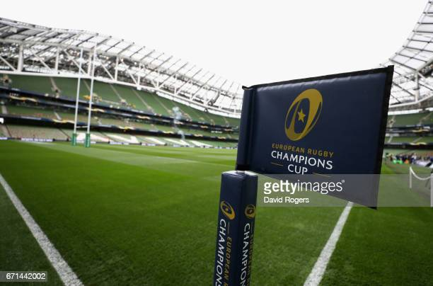 A general view of the Aviva Stadium priot to the European Rugby Champions Cup semi final match between Munster and Saracens at the Aviva Stadium on...