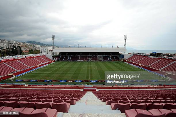General view of the Avni Aker Stadium home to Trabzonspor AS prior to the Spor Toto Super League match between Trabzonspor AS and Fenerbahce SK held...