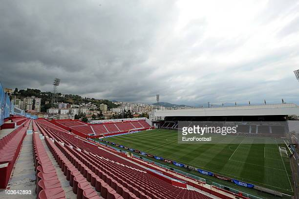 General view of the Avni Aker Stadium home to Trabzonspor A.S. Prior to the Spor Toto Super League match between Trabzonspor A.S. And Fenerbahce SK...