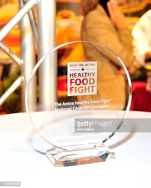 A general view of the award at the Aetna Healthy Food Fight regional semifinal cookoff at ABC Studios on December 2 2011 in New York City