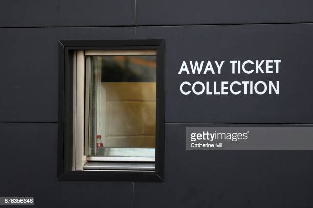 General view of the away ticket office during the Premier League match between Watford and West Ham United at Vicarage Road on November 19 2017 in...